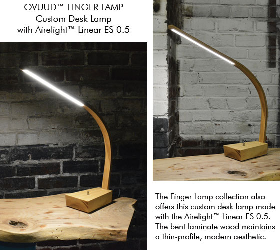 OVUUD Finger Desk Lamp with Airelight Linear