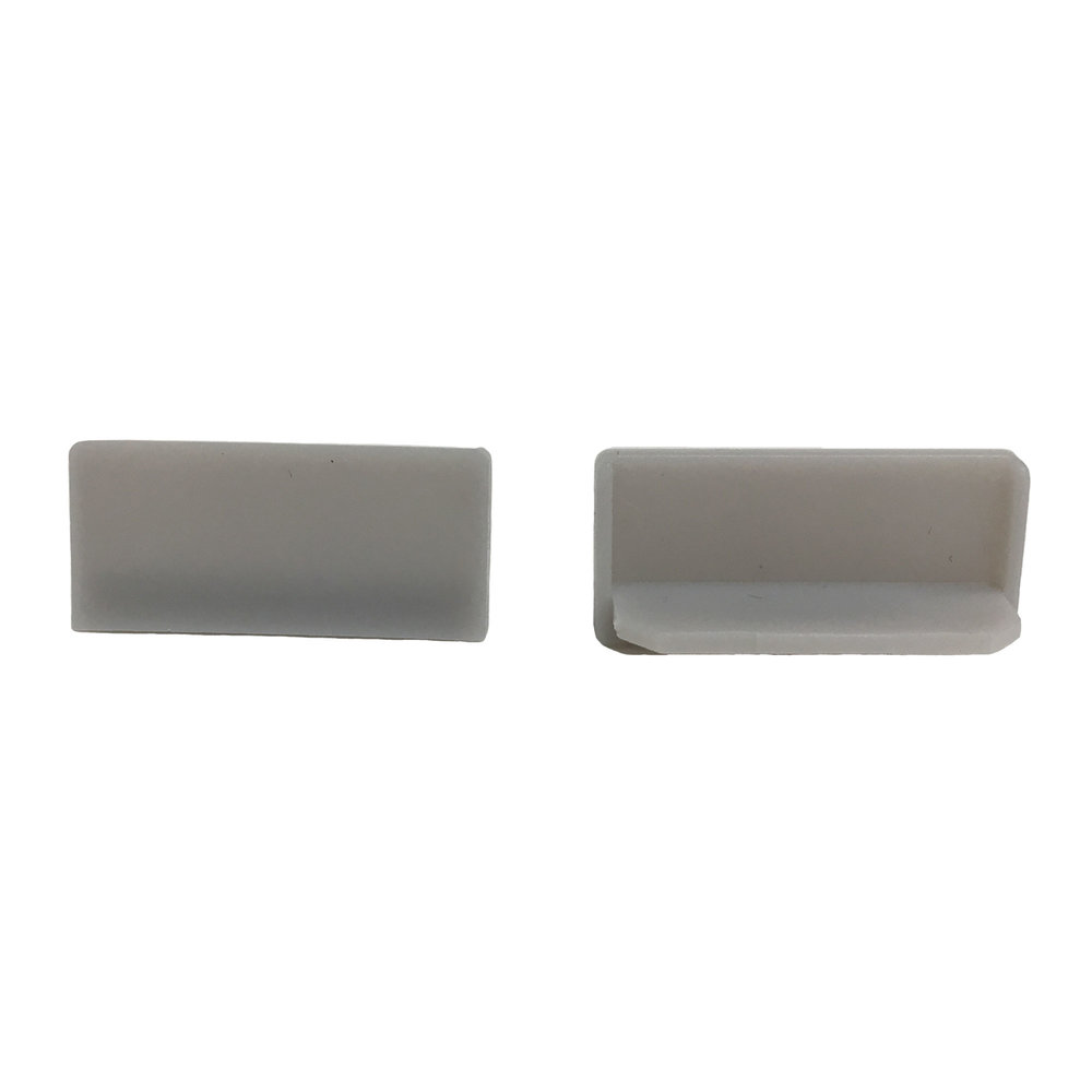 End Cap Snap Channel ES 1.0 Lt. Grey   SKU: 94563