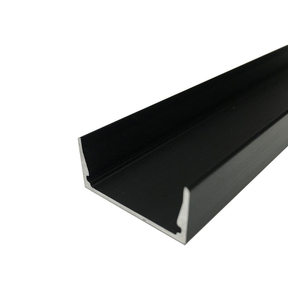 Snap Channel Airelight ES 1.0 Black   SKU:  46430 - 4 Ft. 60838 - 6 Ft. 11916 - 8 Ft.