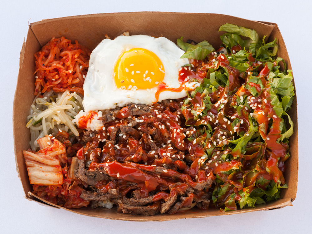 Bibim Box -  Kim Jong Grillin' .  Delicious Korean Barbecue from a critically acclaimed food truck.