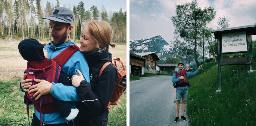 Äitenpäiväretkellä Espoon metsissä sekä helatorstaita Sveitsin vuorilla.