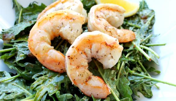 Shrimp with Honey Pepper Vinaigrette Recipe