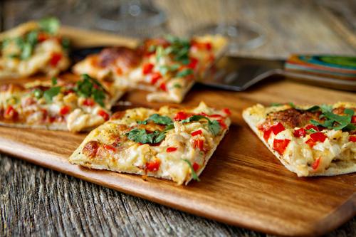Pretty Peppers Flatbread Pizza Recipe