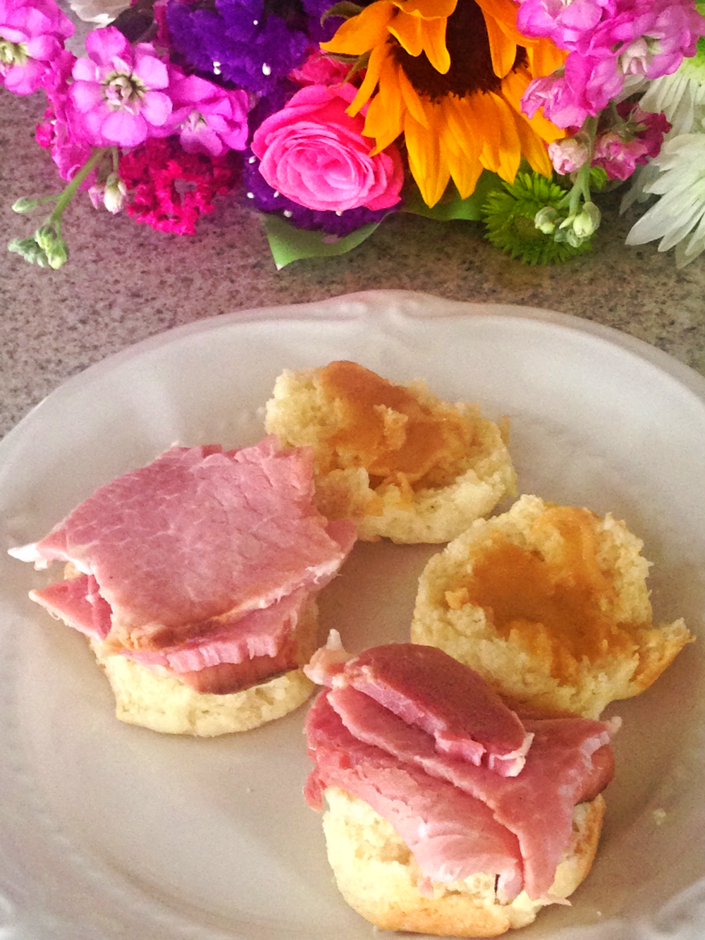 ham and mustard bisquit