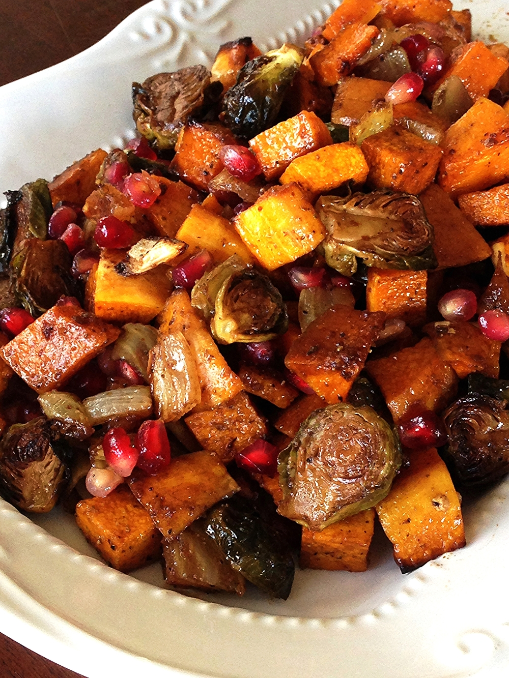 Champagne Roasted Brussels sprouts and Butternut Squash Recipe
