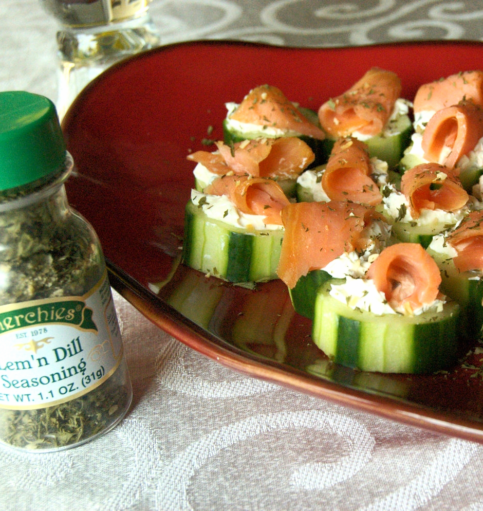 Lem 'n Dill Cucumber Roulades Recipe