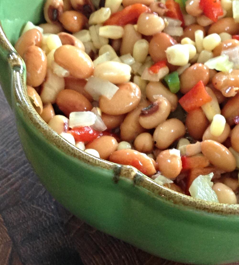 Pretty Vegetable Bean Salad Recipe