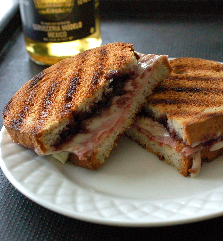 Champagne Blackberry Grilled Ham & Cheese Recipe- Celebrating Grilled Cheese Sandwich Day