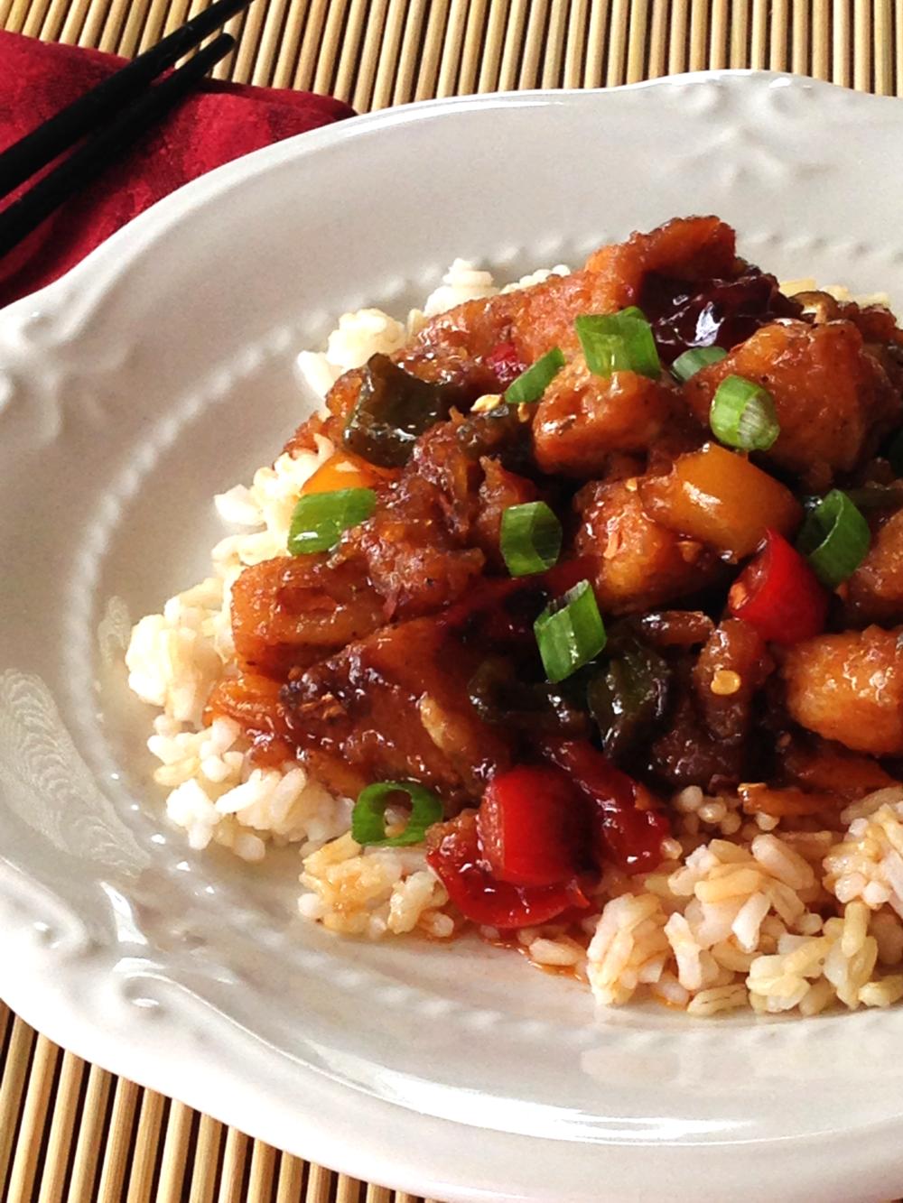 Chinese Lemon Raspberry Chicken Recipe