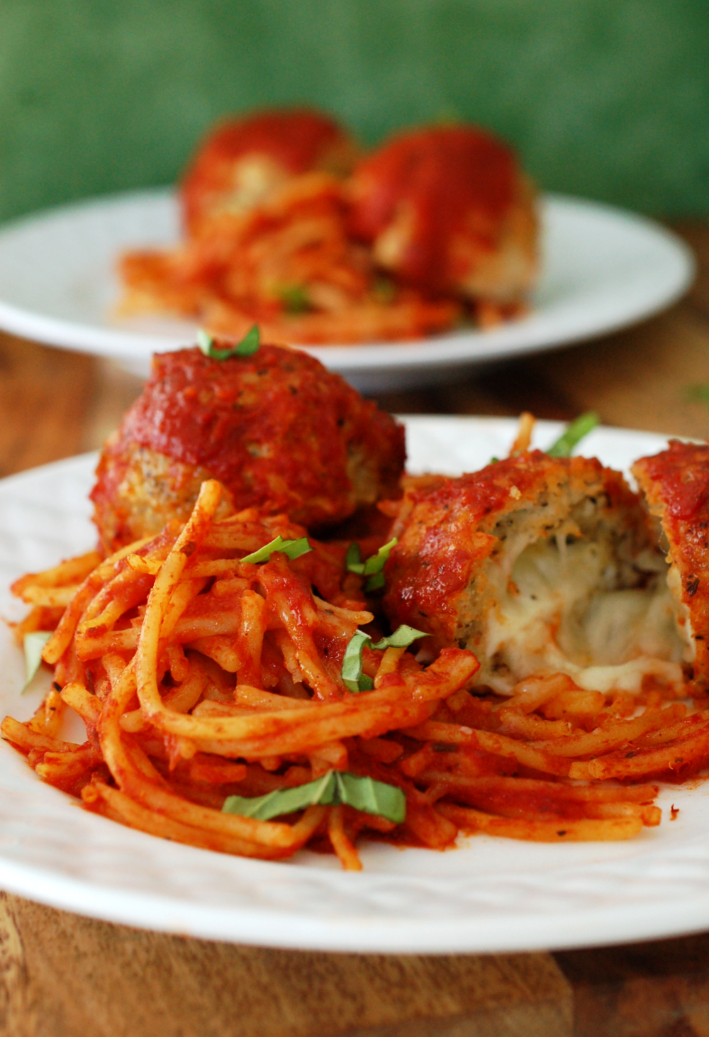Stuffed Chicken Parmesan Spaghetti and Meatballs Recipe