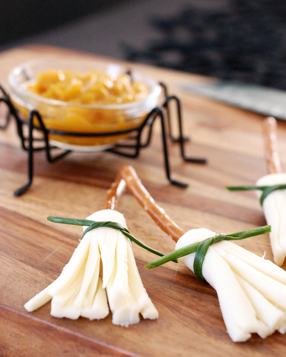 Witches Cheese Brooms With Hot Banana Pepper Mustard Recipe