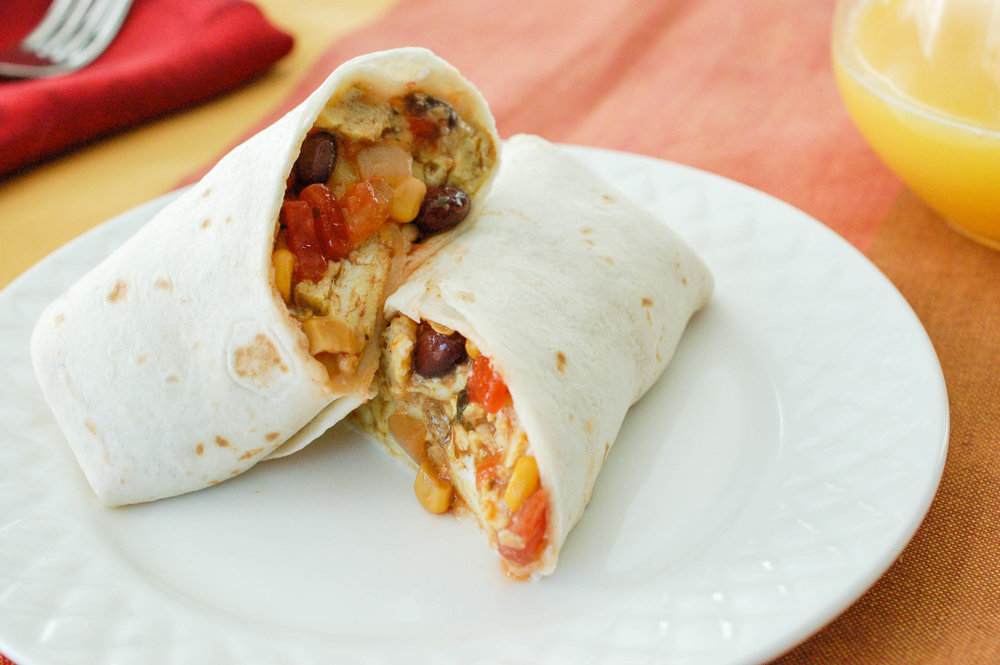 Black Bean & Corn Breakfast Burrito Recipe