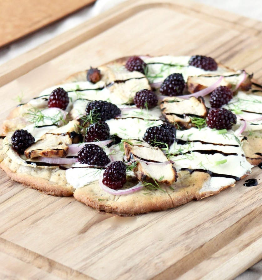 Blackberry Chicken Flatbread Recipe