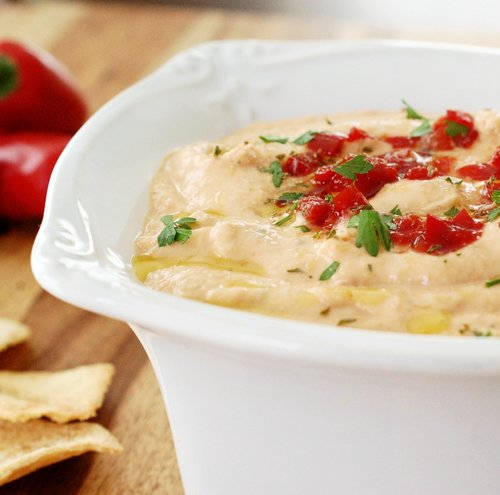 Pretty Pepper Hummus Recipe