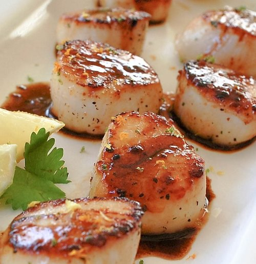 Seared Citrus Cilantro Scallops Recipe
