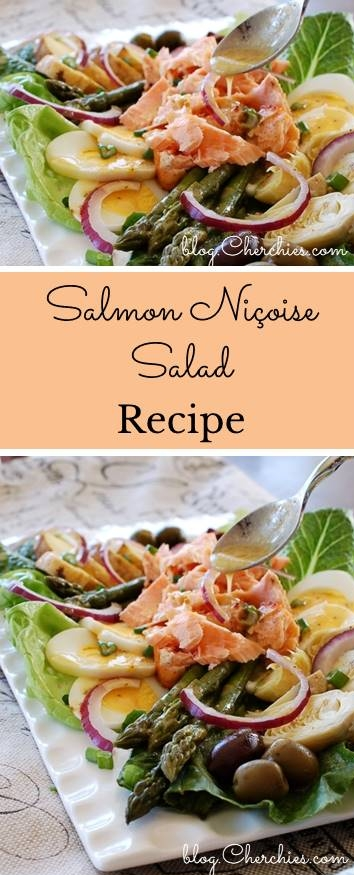 Salmon Niçoise Salad Recipe With Champagne Herb Vinaigrette Dressing