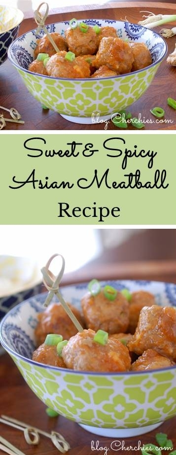 Sweet & Spicy Asian Meatballs Recipe