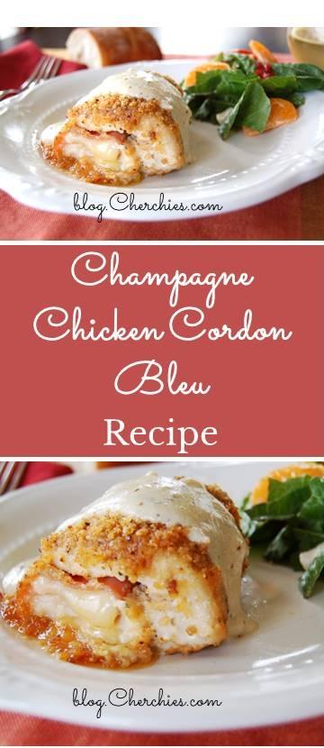 Champagne Chicken Cordon Bleu Recipe