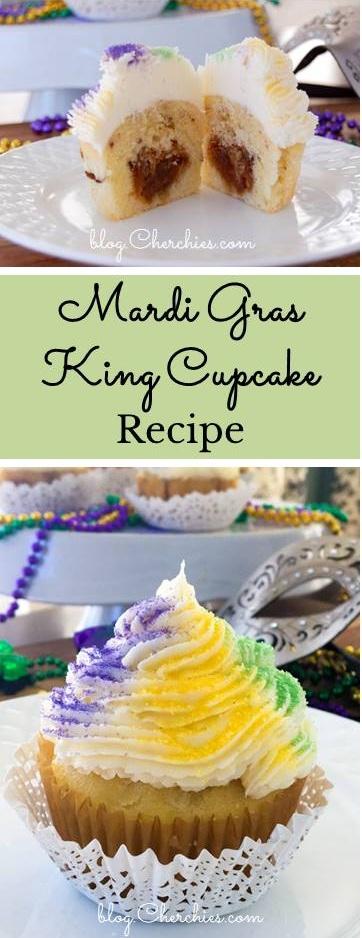 Mardi Gras King Cake Cupcakes Recipe