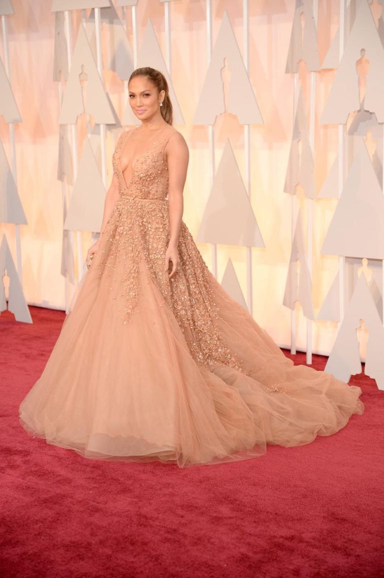 If anyone was going to go full-out Elie Saab, it was J Lo. Breathtaking.