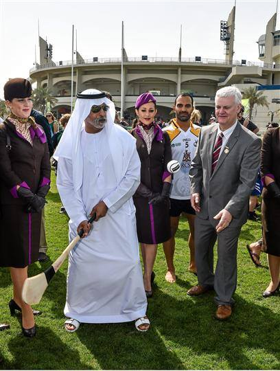 Clink on the phto above of Sheikh Nayhan to see a video on the opening of the Gaa World Games.