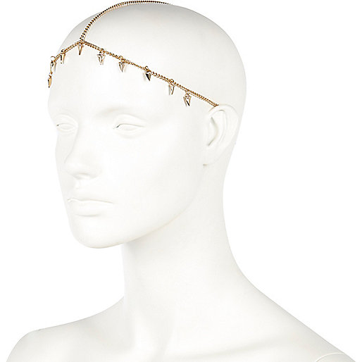 GOLD TONE MINI TUSK HAIR CROWN  Embellish your look with this gold tone hair crown. Decorated with miniature tusk pendants, it's a winning choice for pool-bar glamour.  £8.00 click image to shop.