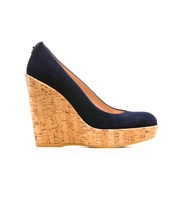 THE CORKSWOON PUMP   BHD 231.90  Color: Nice Blue Suede