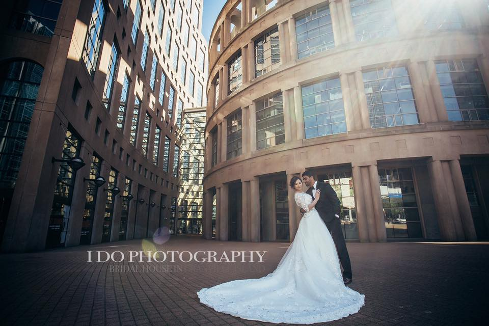 Bride and Groom at the Vancouver Public Library