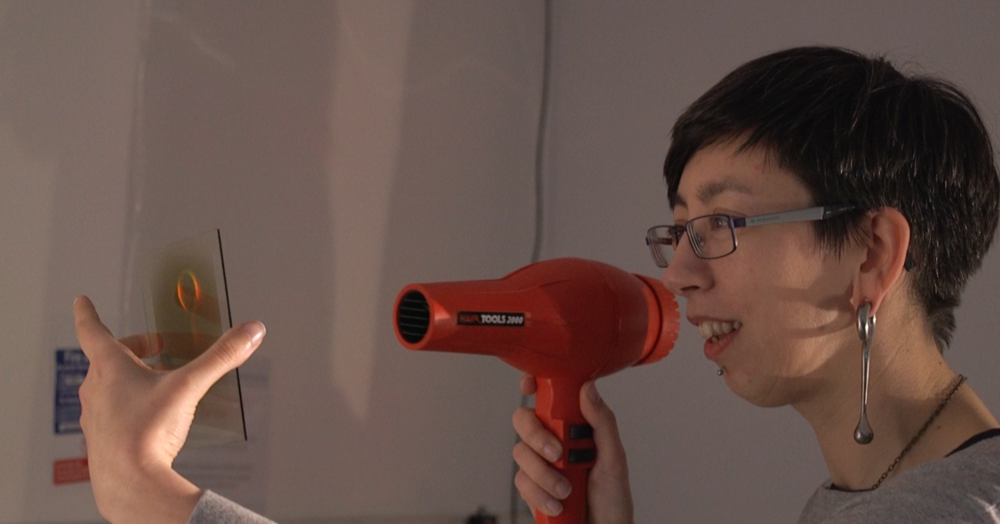 Tina and hairdryer.png