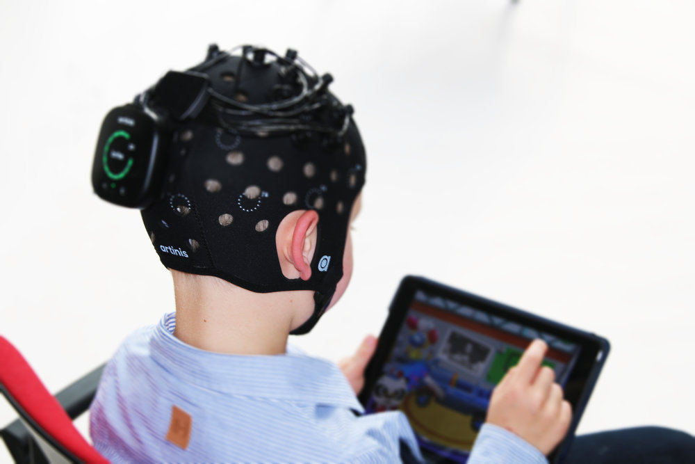 Figure 4: Artinis head-cap for kids, also compatible with the Brite system