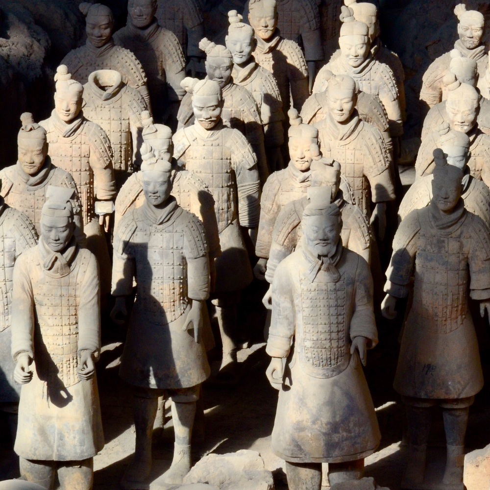 Just one of many images of the Terracotta Warriors I took.