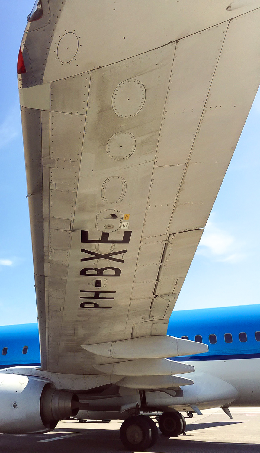 Underwing of an airplane -