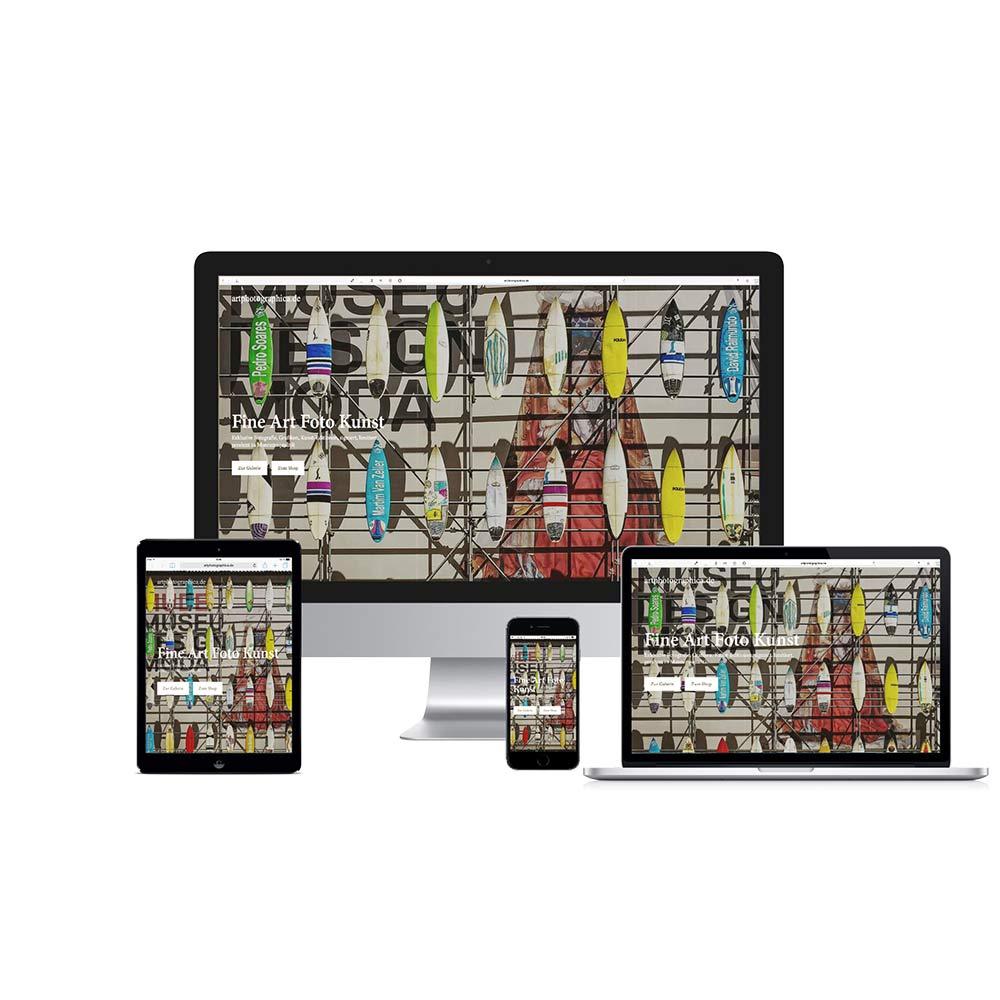 Home Screen Responsive Webshop MUDE  www.artphotographica.de