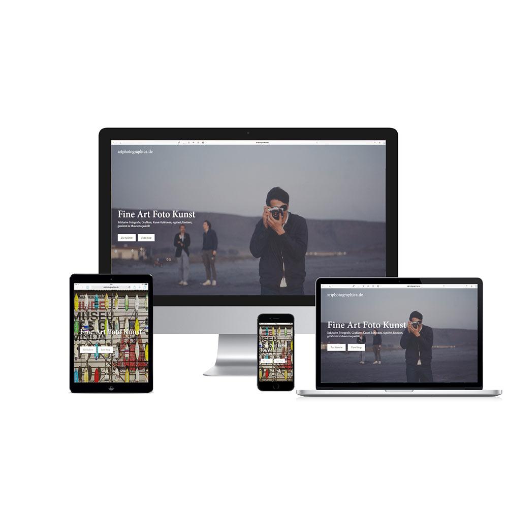 Home Screen Responsive Webshop  www.artphotographica.de