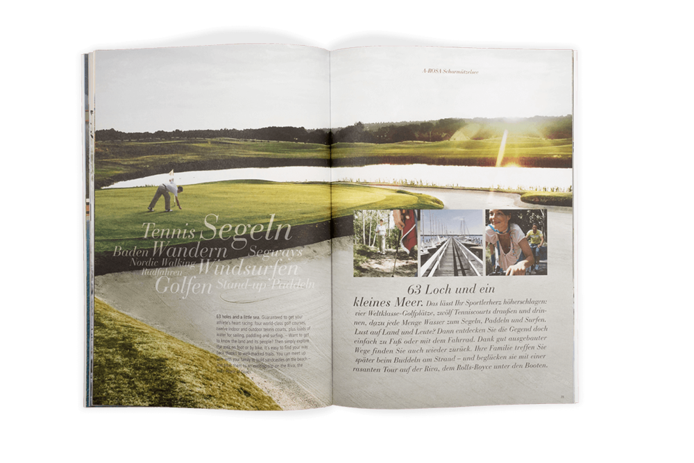 A'ROSA Hotels Katalog Scharmützelsee Golf