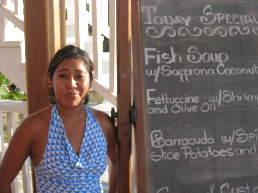 Seafood Specials at Driftwood Lodge, Caye Caulker, Belize
