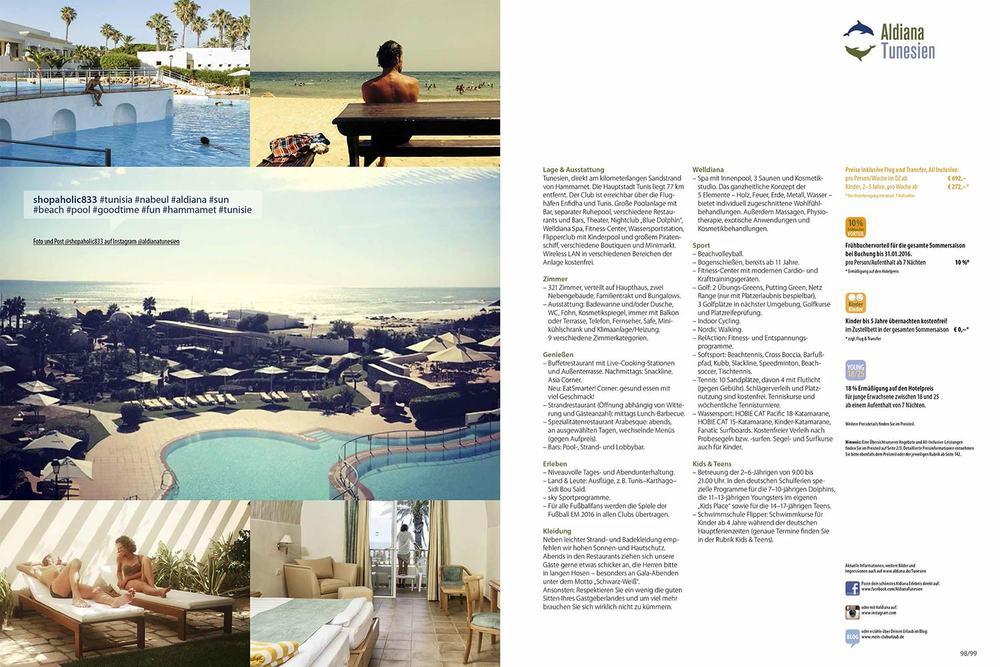 Tunesien Club Echt Aldiana Katalog Sommer 2016 Instagram