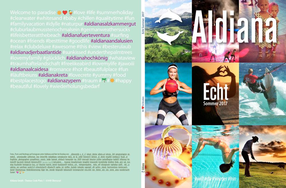 Aldiana Katalog Sommer 2017 Umschlag Titel Rücktitel