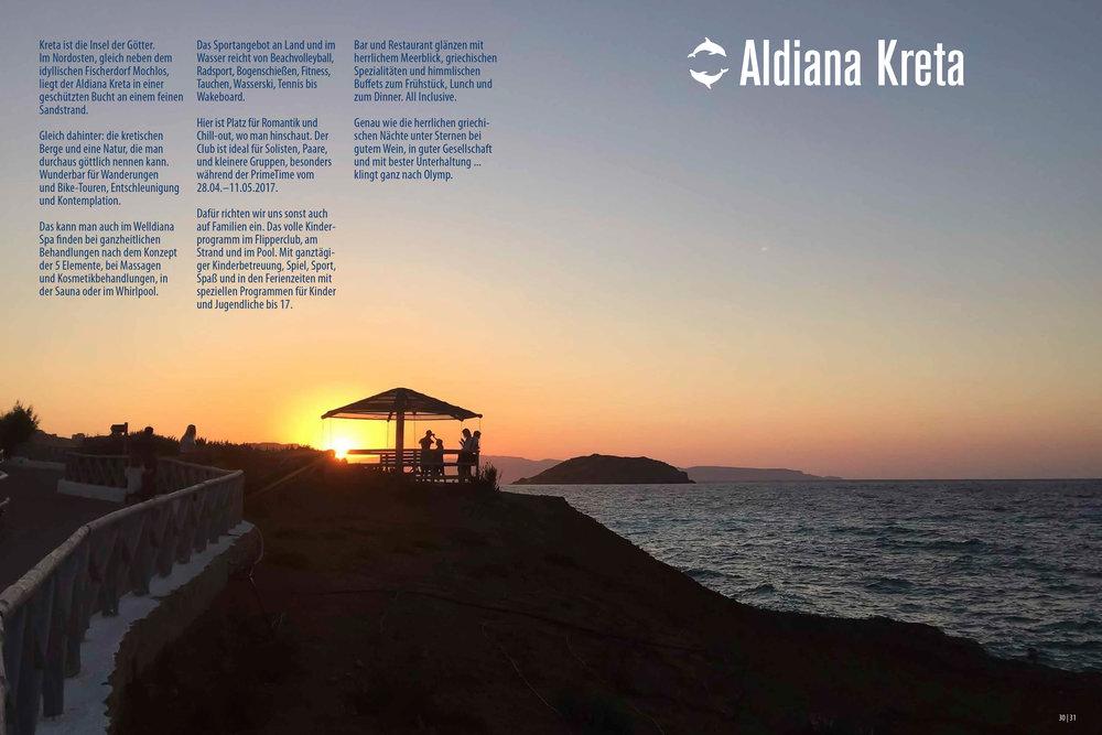 Aldiana Katalog Sommer 2017 Club Kreta