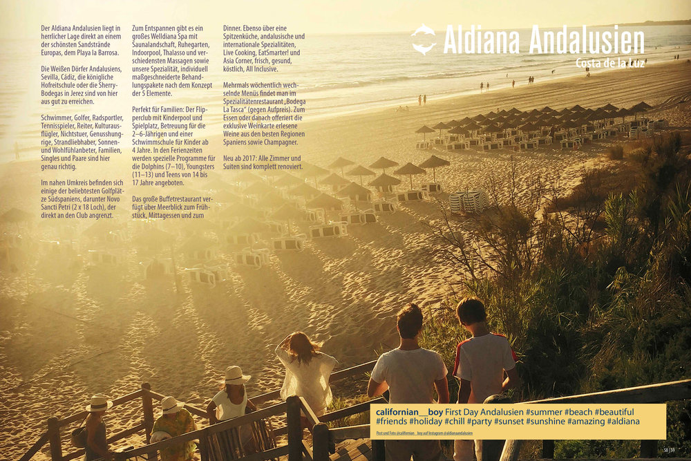 Aldiana Katalog Sommer 2017 Club Andalusien
