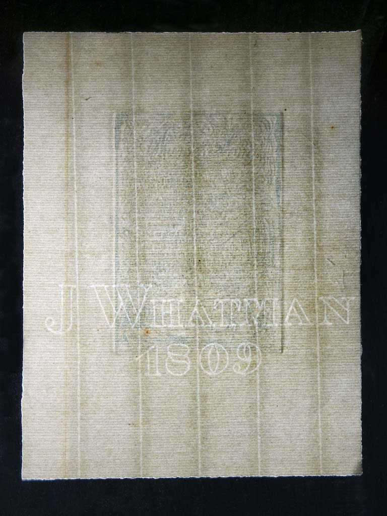 Fig. 4: Hand-made laid paper showing the 'J Whatman 1809' watermark