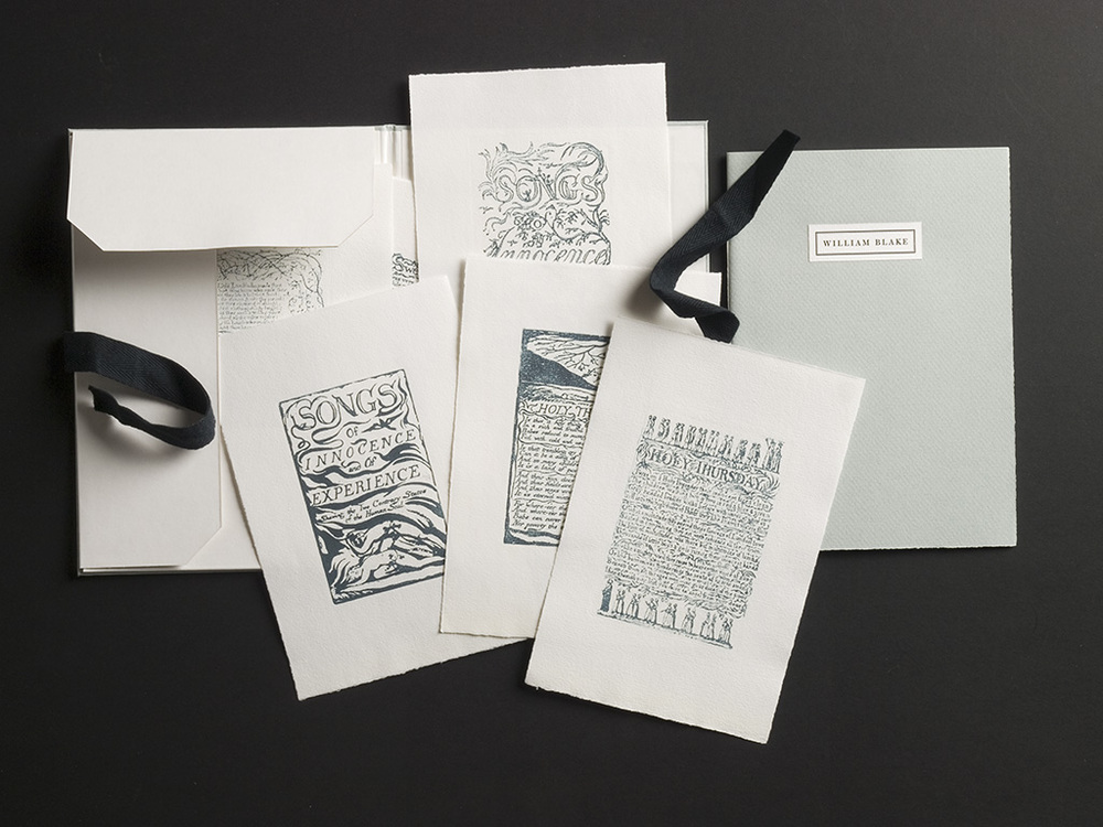 A representative selection of prints from Songs of Innocence and of Experience including Portfolio and Pamphlet