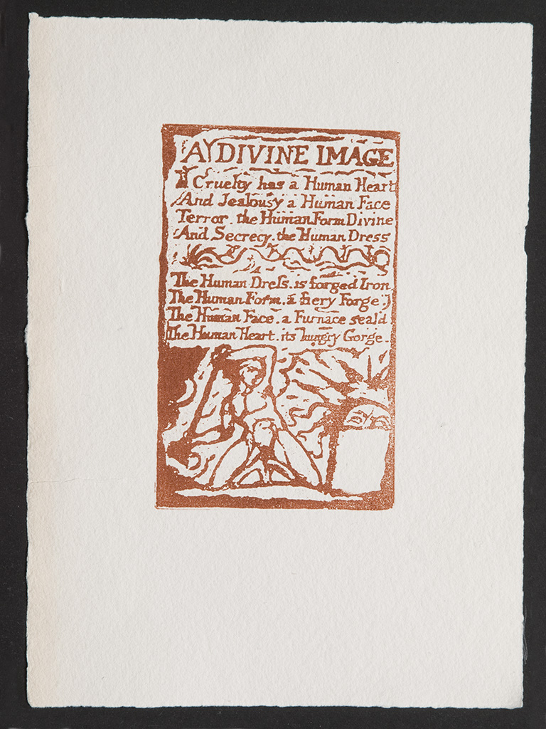 'A Divine Image', Songs of Innocence and of Experience, old wove paper 195 x 145 mm.