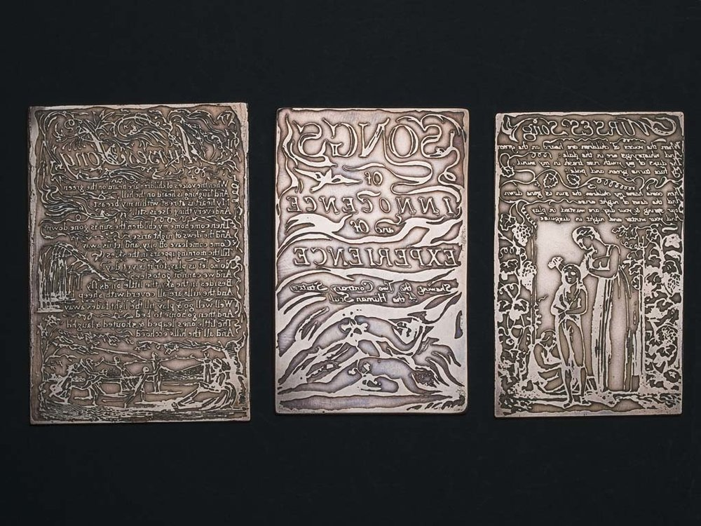 William Blake Relief-Etched Copper Plate