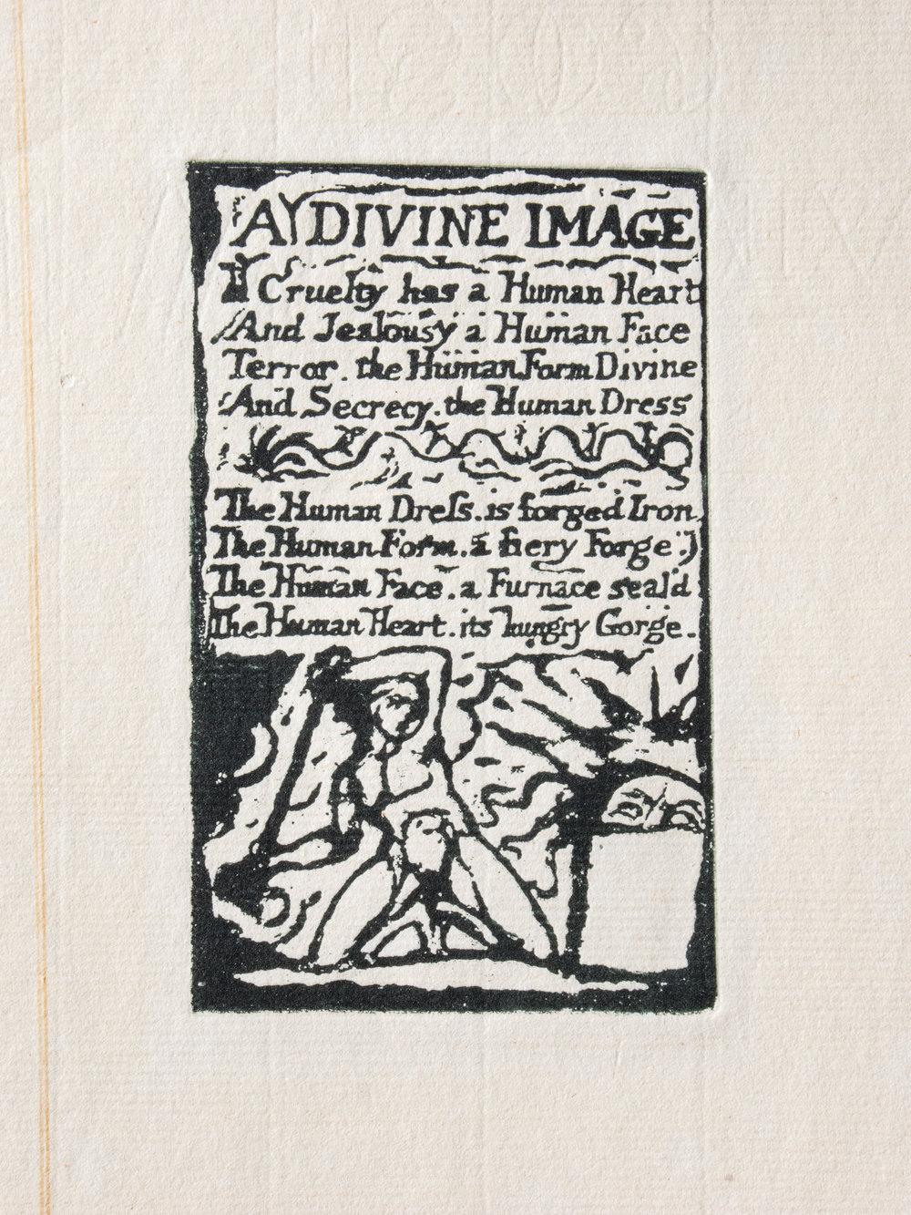 Copy of A Divine Image printed in black ink