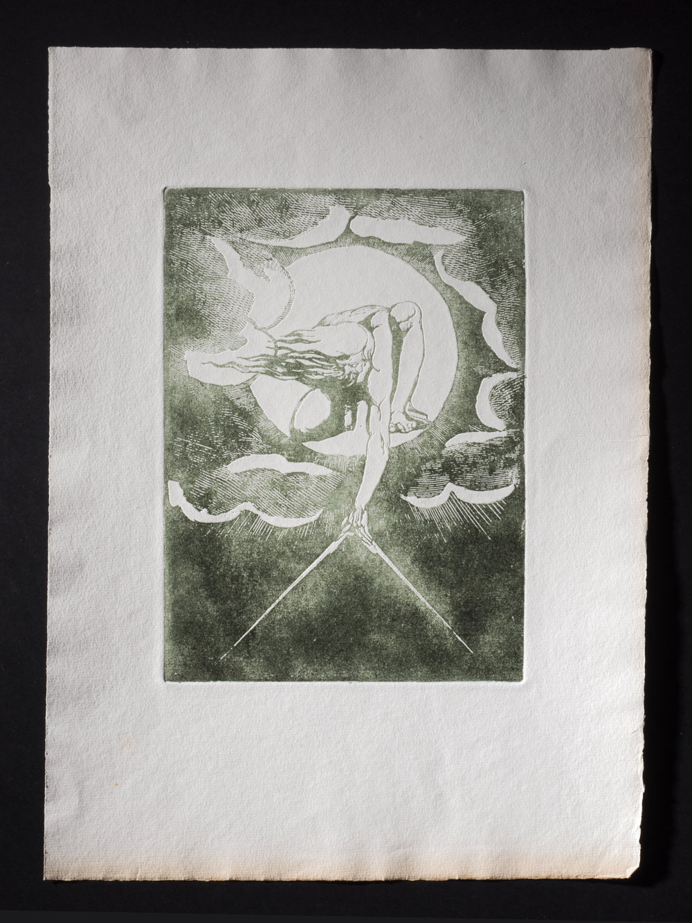 Copy of Frontispiece full page printed in green ink