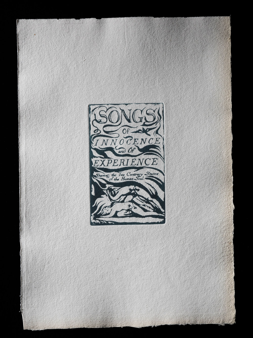 General title page, Songs of Innocence and of Experience, 1794, 114 x 70 mm