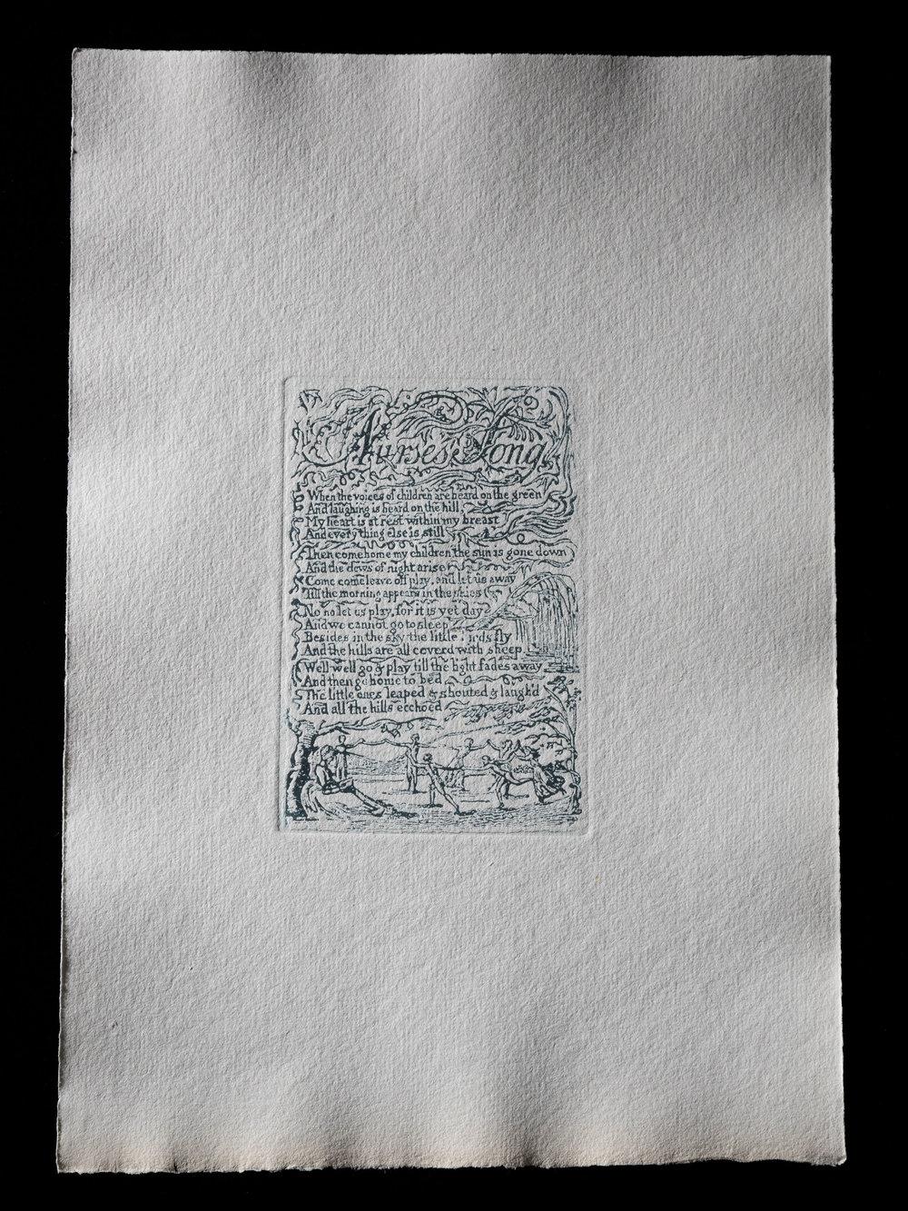 11. Nurses Song, 118 x 79 mm