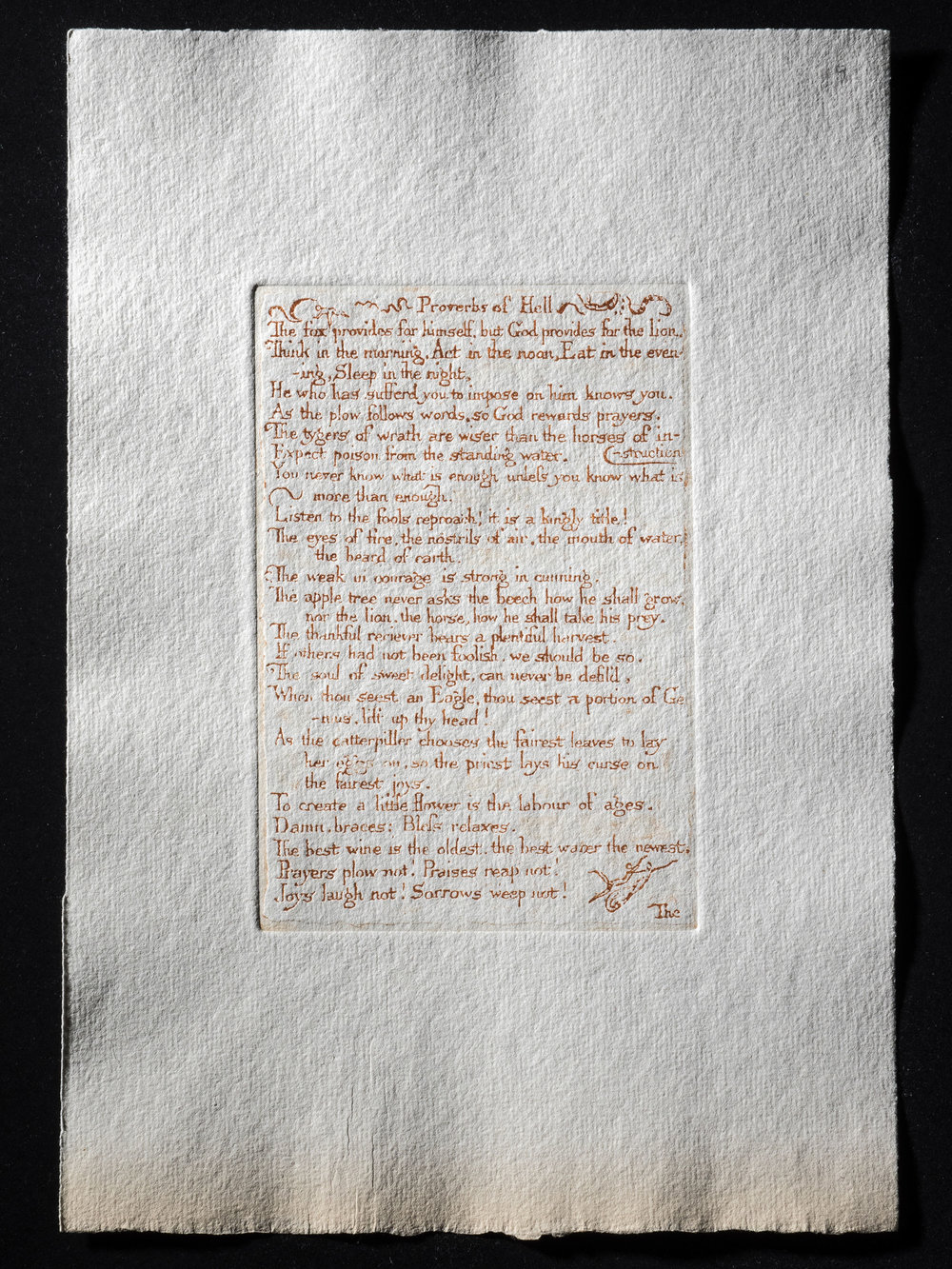 9. Proverbs of Hell, 155 x 106 mm