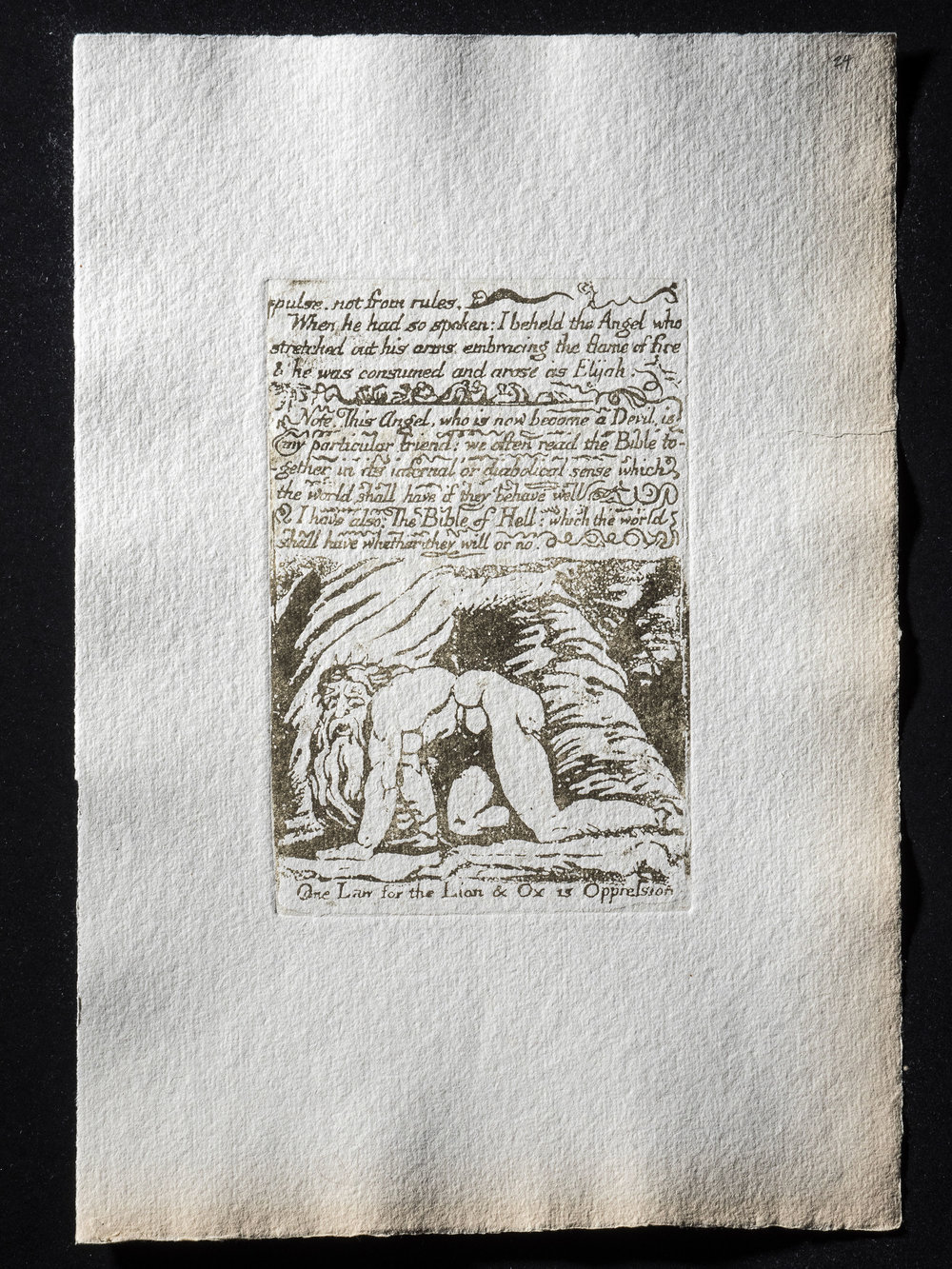 24. -pulse: not from rules. (One Law for the Lion & Ox is Oppression), 154 x 112 mm